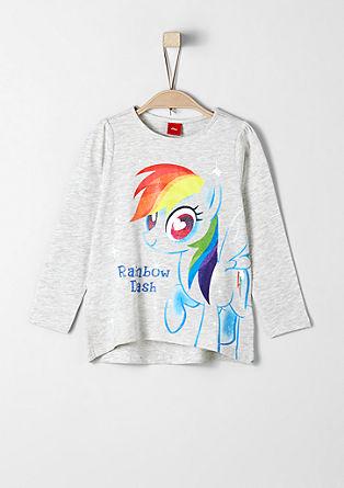 Majica dolg rokav s potiskom ponija