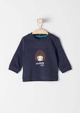Majica dolg rokav s potiskom z motivom ježa