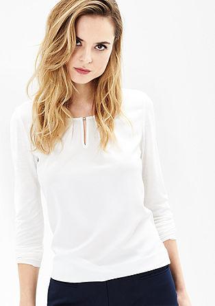 Majica dolg rokav s sprednjo stranjo v slogu bluze