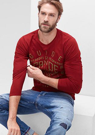 Majica dolg rokav s tiskom spredaj