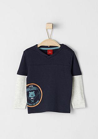 Majica dolg rokav v videzu 2 v 1