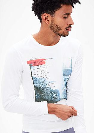 Majica dolg rokav z mestnim tiskom