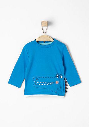 Majica dolg rokav z motivom krokodila