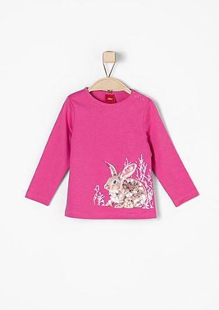 Majica dolg rokav z motivom zajčkov