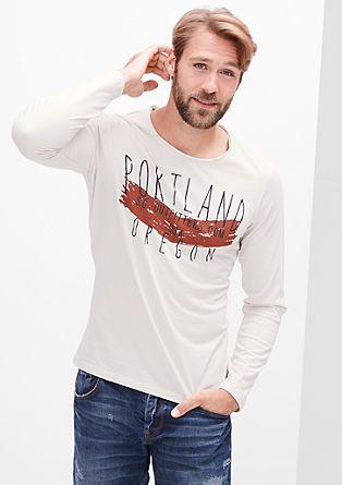 Majica dolg rokav z natisnjenim napisom