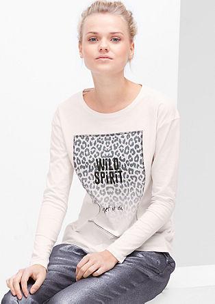Majica dolg rokav z natisnjenim živalskim motivom