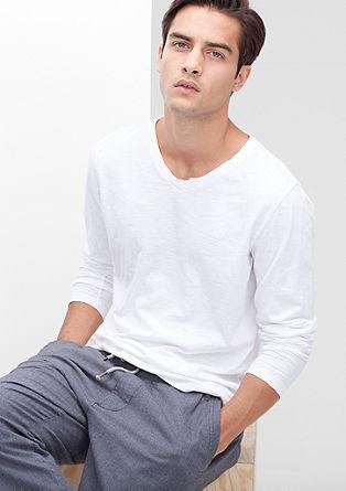 Majica dolg rokav z učinkom barvanega pranja