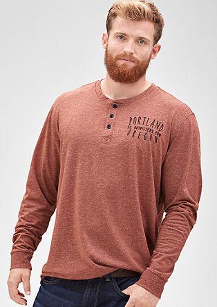 Majica Henley iz meliranega džersija