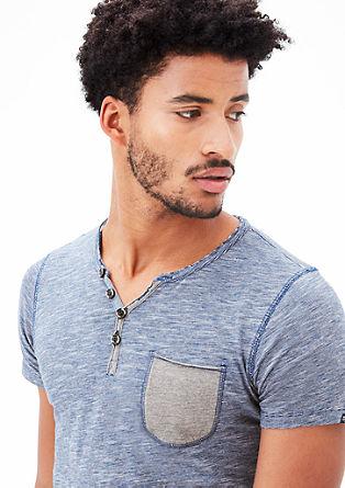 Majica Henley s tankimi črtami