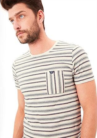 Majica iz džersija s črtami