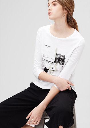 Majica iz džersija s filigranim potiskom