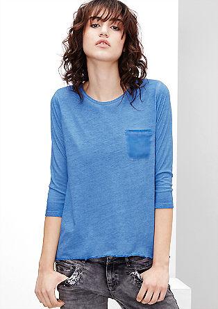 Majica iz džersija s hrbtno stranjo iz krepa