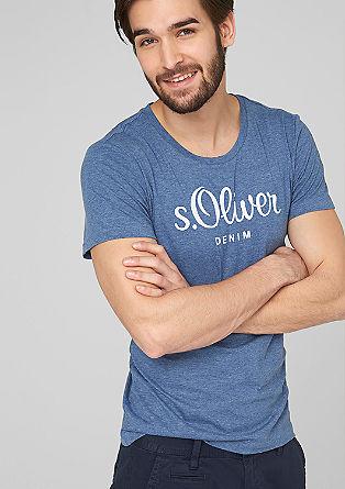 Majica iz džersija s potiskom z logotipom