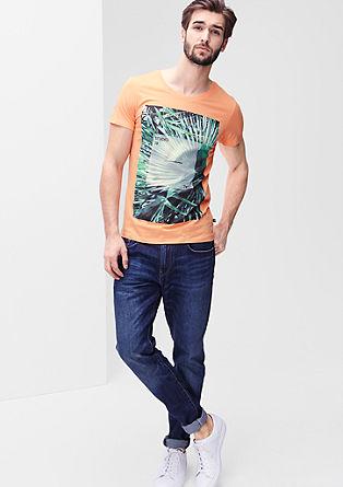 Majica iz džersija s tiskanim motivom palm