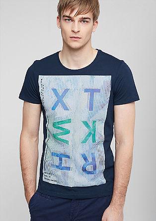 Majica iz džersija z barvnim tiskom