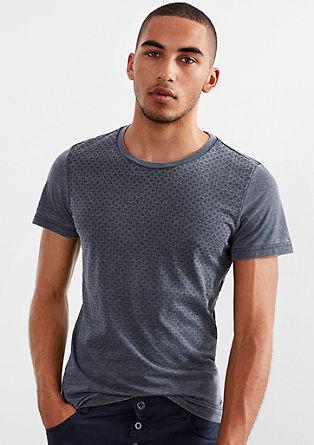 Majica iz džersija z drobnim vzorcem