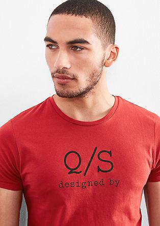 Majica iz džersija z natisnjenim logotipom