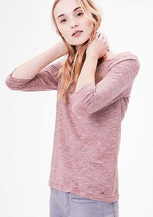 Majica iz džersija z oglatim izrezom