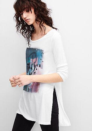 Majica iz džersija z umetniškim potiskom