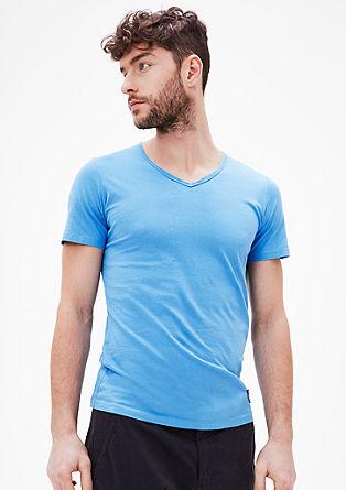 Majica iz džersija z V-izrezom