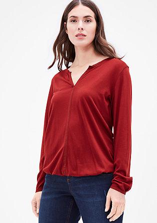 Majica iz mešanice modala z okrasnim robom iz krepa