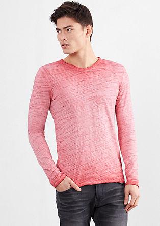 Majica iz plamenaste preje, barvana s hladnim postopkom pigmentiranja