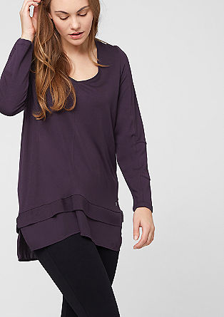Majica iz viskoze z bluznim elementom