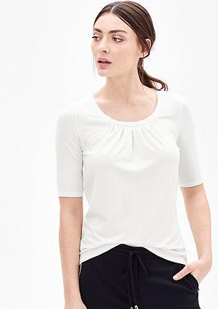 Majica kratek rokav s plisiranimi gubami
