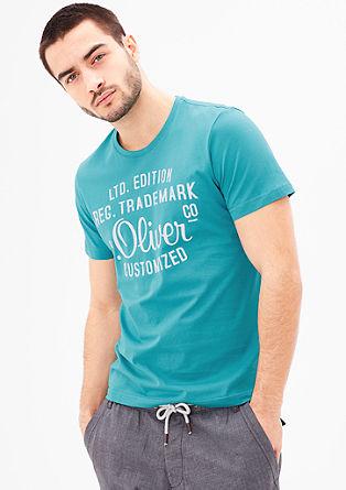 Majica kratek rokav s potiskom s podpisom s.Oliver