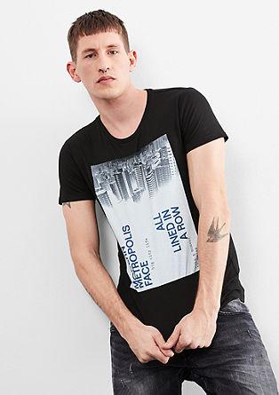 Majica kratek rokav s potiskom z motivom metropole
