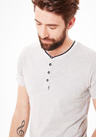 Majica kratek rokav z delom z gumbi