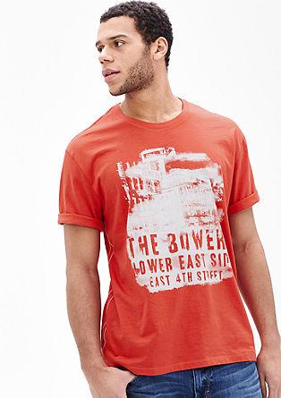 Majica kratek rokav z enobarvnim potiskom