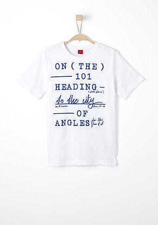 Majica kratek rokav z natisnjenim napisom