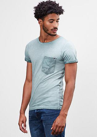 Majica kroja Slim Fit z učinkom barvnega pranja