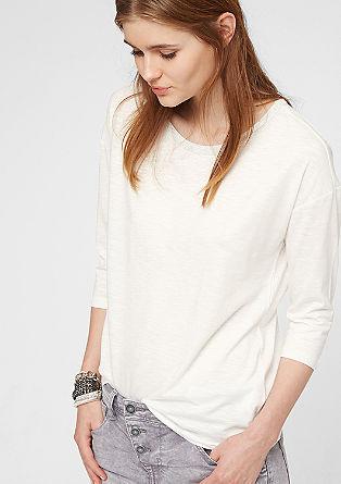 majica s 3/4 rokavi in z glamuroznim ovratnikom