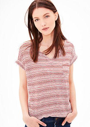 Majica s črtasto teksturo