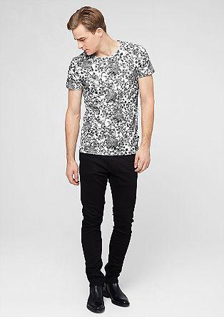 Majica s kratkimi rokavi in cvetličnim tiskom