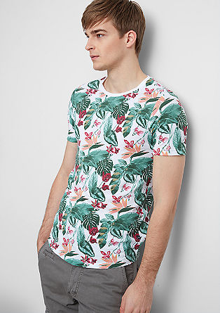 Majica s kratkimi rokavi in potiskom po celotni površini