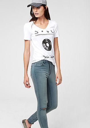 Majica s kratkimi rokavi in z umetelnim tiskom
