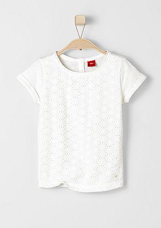 Majica s kratkimi rokavi z vezenino na sprednji strani