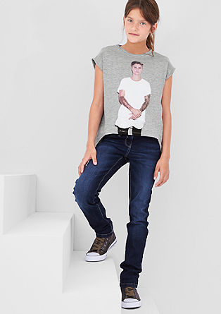 Majica s potiskom Justina Biebra