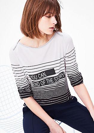 Majica s sporočilom in potiskom