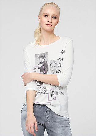 Majica s tiskanim kolažem