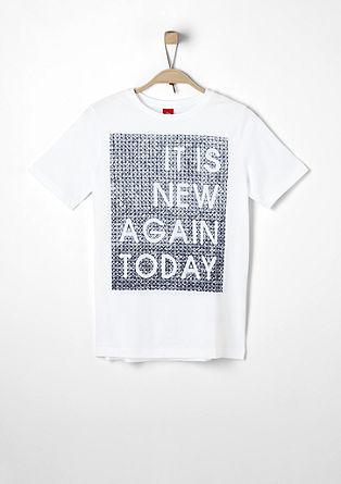 Majica s tiskom videza »naredi sam«