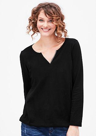 Majica v slogu tunike s kovinskim detajlom