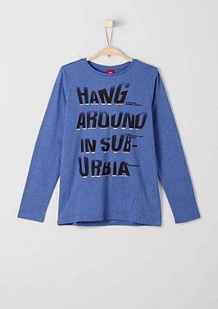 Majica z dolgimi potiskom s sporočilom