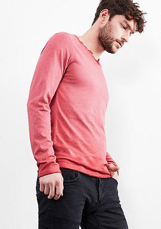 majica z dolgimi rokavi, barvana s hladnim postopkom pigmentiranja