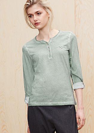 Majica z dolgimi rokavi, barvana s postopkom pigmentiranja