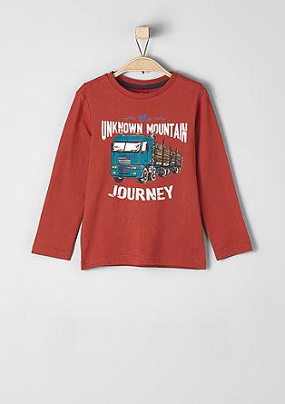 Majica z dolgimi rokavi in motivom tovornjaka