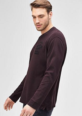 Majica z dolgimi rokavi in okroglim izrezom